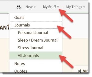 Rename a Journal Menu Path