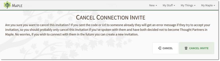 Cancel an Invite