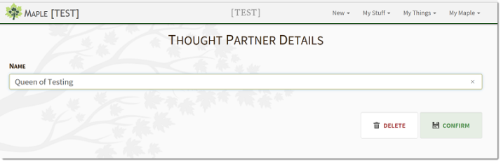 Thought Partner Details
